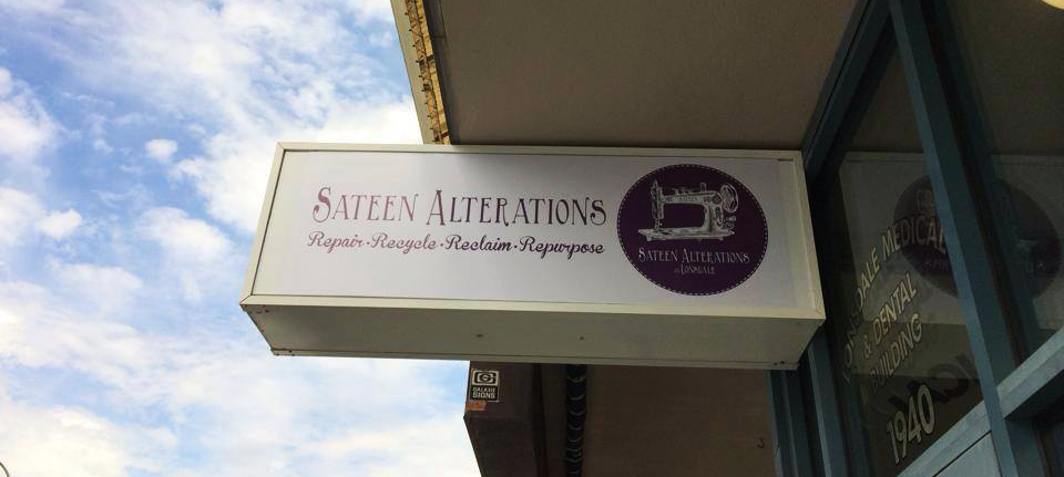 Sateen Alterations Sign
